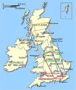 UK high speed rail development corridors